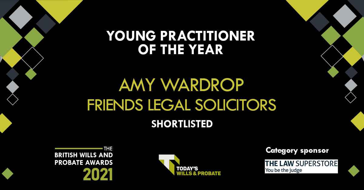 Friends Legal Award Nomination - Amy Wardrop - Young Practitioner of the Year award