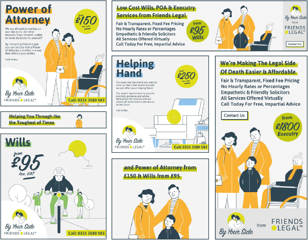 Friends Legal Digital Marketing Ads for Award Consideration